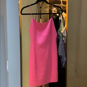 Alice and Olivia neon pink dress NWT